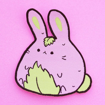 Sakura Mochi Bunny Patch, Sew On, kawaii, j fashion, japanese, harajuku style, pastel goth accessories