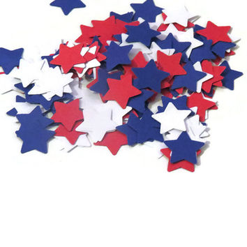 Patriotic Star Confetti - 100 Pieces - biodegradable Wedding Decoration