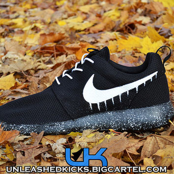 Custom Drip Nike Roshes Black from UnleashedKustoms on Etsy d13c718e82e5