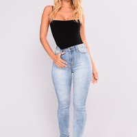 Luxe High Waist Skinny Jeans - Light