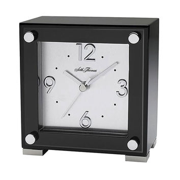 Seth Thomas Black Piano Table Clock