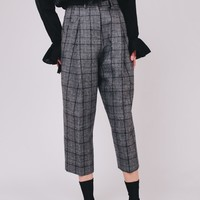 Plaid Wide Legged Pants
