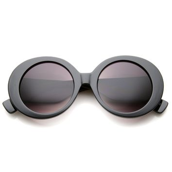 Womens High Fashion Glam Chunky Round Oversize Sunglasses 50mm