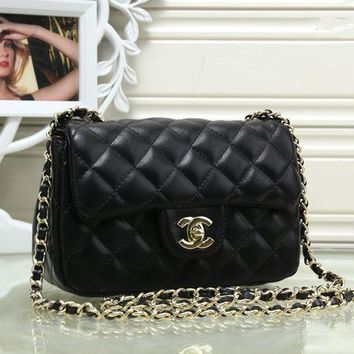 VLXZGW7 Chanel' Women Simple Fashion Quilted Metal Chain Single Shoulder Messenger Bag