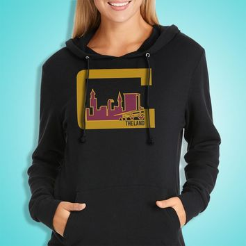 Cleveland The Land Cavaliers Cavs Lebron James Women'S Hoodie