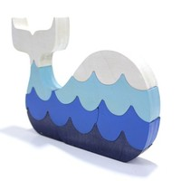 Whale with Waves Puzzle and Decor - Small Version