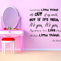 One Direction Little Things Wall Art