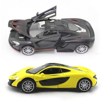 Collectible Car Models 1:32 McLaren P1 Alloy Diecast Car Model Toy Vehicles Electronic Car With Light Sound Gift for Kids