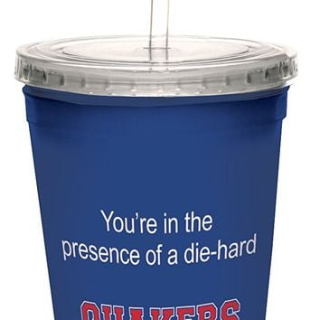 Tree-Free Greetings cc34532 Quakers College Football Fan Artful Traveler Double-Walled Cool Cup with Reusable Straw, 16-Ounce