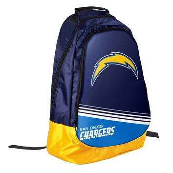 San Diego Chargers BackPack / Back Pack Book Bag NEW - TEAM COLORS Core Stripe