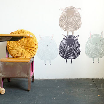 4 Sheep Wall Decals