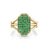 Emerald Devi Shield Ring - Yellow Gold