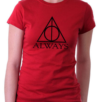 Red Always Harry Potter Ladies T-Shirt