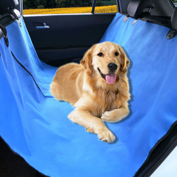 "Pet Magasin Pet Seat Cover Hammock - Blue - 58"" x 54"""