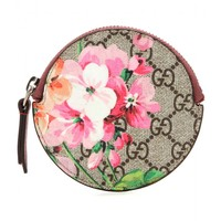 GG floral-printed leather coin purse