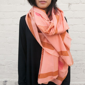 Block Shop Textiles Sol Scarf for Poketo in Peony