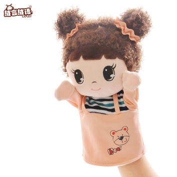 RYRY 30CM Free Shipping Children Doll Hand Puppet Toys Classic Children Figure Toys Kids Gifts  Cartoon Plush Collection