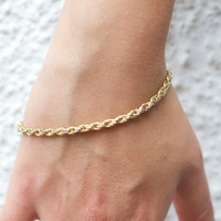 Golden Chain Eighties Bracelet - Twisted Elegance