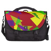 Retro Colorful Abstract Commuter Bags