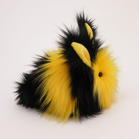 Bumble the Black and Yellow Bunny Stuffed Animal Plush Toy