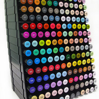 Spectrum Noir Alcohol Marker Complete Set - All 168 Markers 14 Marker Storage Trays & Spectrum Noir DVD