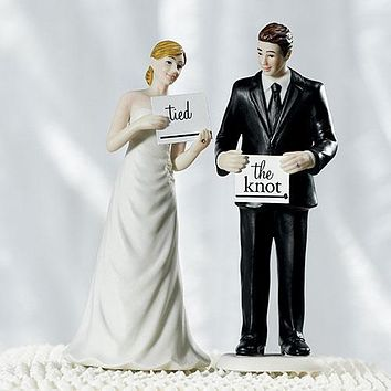 Read My Sign - Bride and Groom Figurines Bride Figurine (Pack of 1)