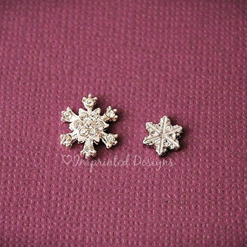 Snowflake Floating Charms - Winter Locket Charm - Frozen - Floating Locket Charm