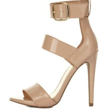 Three-Strap Single Sole Heels by Charlotte Russe