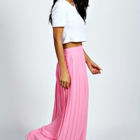 Kadie Pleated Woven Maxi Skirt
