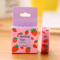 1.5cm Wide Party of Strawberry Washi Tape Adhesive Tape DIY Scrapbooking Sticker Label Masking Tape