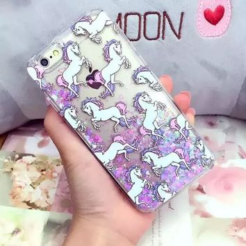 Bling Bling Rhinestones Unicorn Case for iPhone Galaxy