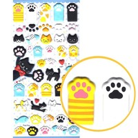 Kitty Cat Animal Themed Paw Shaped Puffy Stickers for Scrapbooking and Decorating