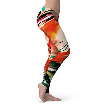 Blurred Abstract Flow V26 - All Over Print Womens Leggings / Yoga or Workout Pants