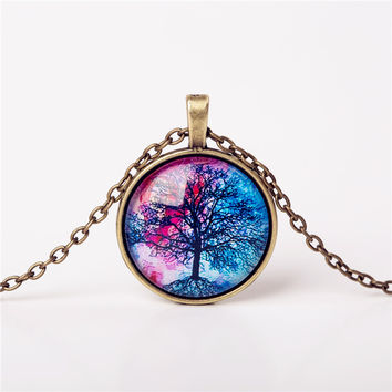 [Free Giveaway] Pink/Blue Life Tree Pendant