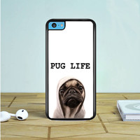 Funny Pug Life iPhone 5 5S 5C Case Dewantary