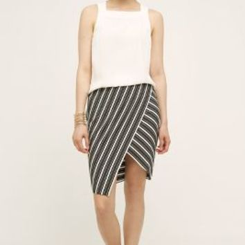 Bailey 44 Wrapped Stripe Skirt in Brown Motif Size: