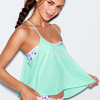 Cropped Flounce Tank - PINK - Victoria's Secret