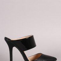Wild Diva Lounge Two-Piece Pointy Toe Stiletto Pump