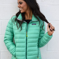 Patagonia Women's Down Sweater Jacket- Aqua Stone