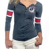 Houston Texans Womens Vintage Raglan Top | SportyThreads.com