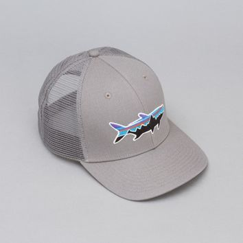 Patagonia Trucker Hat (Fitz Roy Tarpon Feather Grey) | Oi Polloi