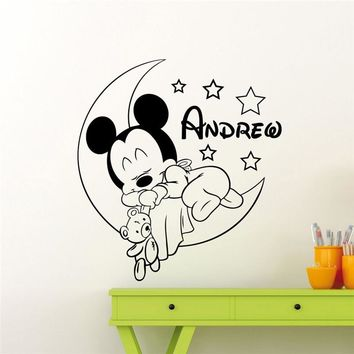Mickey Mouse Wall Decal Nursery Custom Baby Wall Sticker