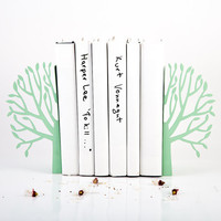 Bookends - Spring mint edition - laser cut for precision these metal bookends for nursery