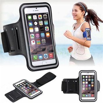 Fashion Washable Jog Sports Arm Band Gym Running Cover Case For Apple iPhone 5 5S 5C 6 6S Plus Arm Holder Pouch Phone Case Capas