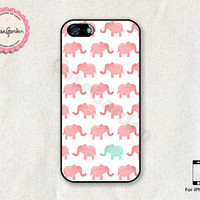 Elephant Design iPhone 5 Case, iPhone 5s Case, iPhone Case, iPhone Hard Case, iPhone 5 Cover, iPhone 5s Cover