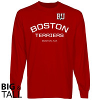 Boston University Calling Card Big and Tall Long Sleeve T-Shirt - Scarlet