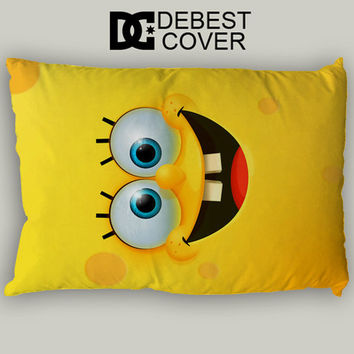 Spongebob Funny Face Pillow Case In 20 x 30 Inches