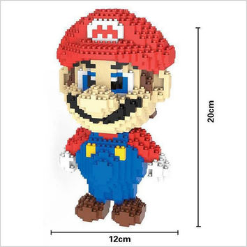 Super Mario Nintendo Block style Lego compatible DIY Building master builder Game world figure