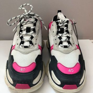 Balenciaga Triple S Sneakers Multi White Black Pink EU 40 US 7