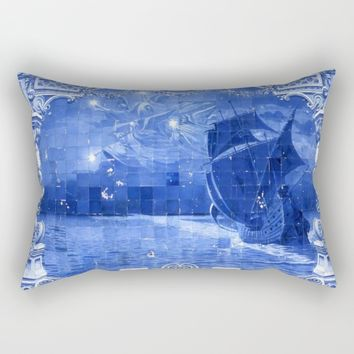 Portugal Azulejo Tile Rectangular Pillow by Tony Silveira